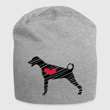 Doberman - Heart - Art - Jersey-Beanie