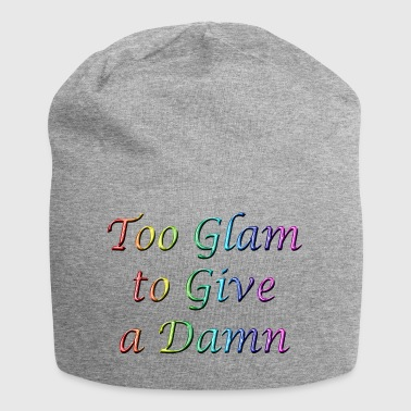 Too Glam to Give a Damn Rainbow - Jersey Beanie