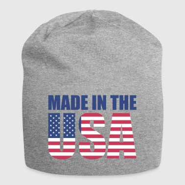 USA America bandiera a stelle e strisce Made in USA - Beanie in jersey