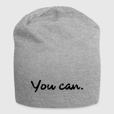 You can. - Jersey Beanie
