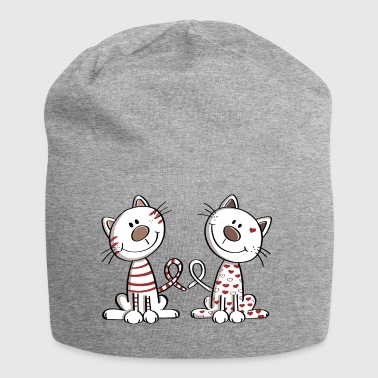Deux chat doux - chat - chaton - Kitty - Bonnet en jersey
