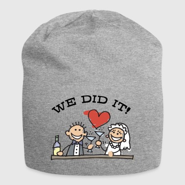 Just Married We Did It - Jersey Beanie
