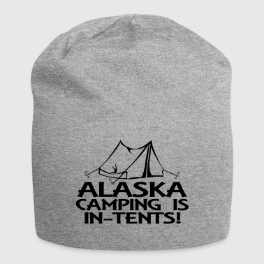 alaska camping in tents - Jersey-Beanie