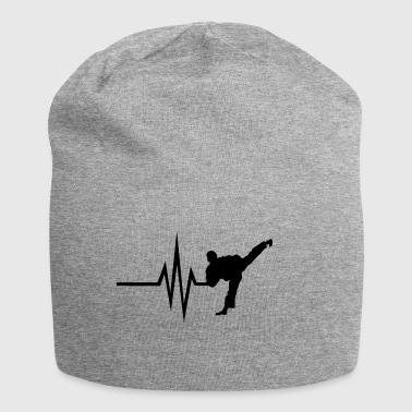 My heart beats for Combat Sports - Sports Fitness - Jersey Beanie
