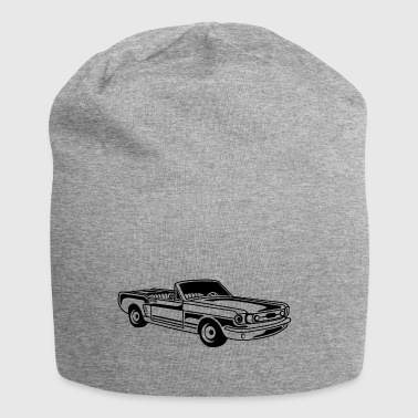 Convertible / Muscle Car 02_black - Jersey Beanie