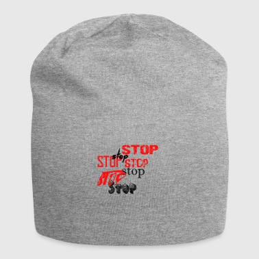 Stop - Beanie in jersey