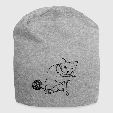 Playing cat - Jersey Beanie