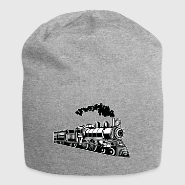 Locomotive / Locomotive 02_black white - Jersey Beanie