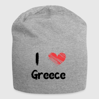 I love Greece - Jersey Beanie