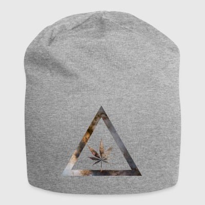 Galaxy Weed Cannabis Geometry Triangle - Jersey-Beanie
