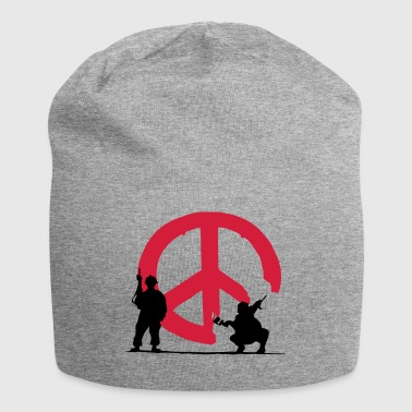 039 - peace not war - Jersey-Beanie