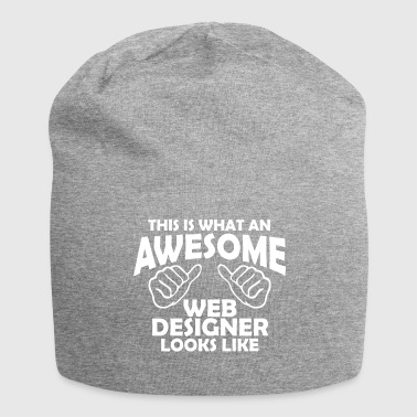 awesome web designer - Jersey Beanie