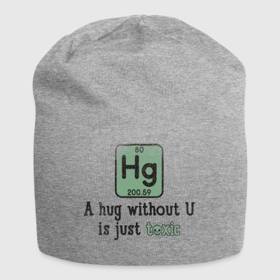 Funny Science Chemical Element Hg Giftig Hug Gift - Jersey-Beanie