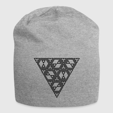 triangle and hexagon design - Jersey Beanie