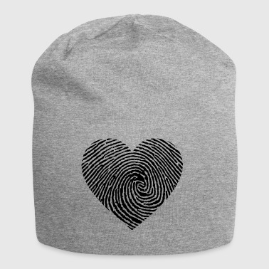 Heart fingerprint black - Jersey Beanie