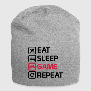 eat sleep game repeat - Jersey Beanie