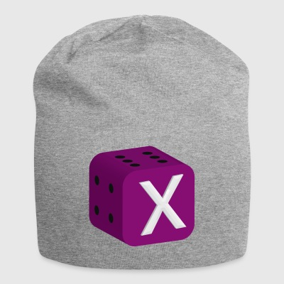 Dice Dice Game of luck backgammon - Jersey Beanie