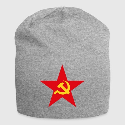 Communist star with hammer and sickle - Jersey Beanie