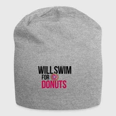 Will swim for donuts - Jersey Beanie