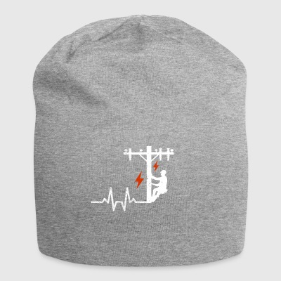 Heartbeats heartbeat electrician high voltage mast - Jersey Beanie