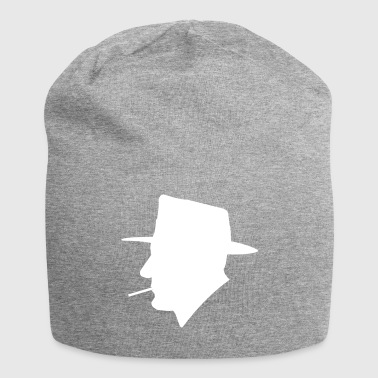 Smoking man with hat - Jersey Beanie