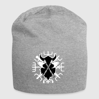 Viking compass, crossed by the ax vegvisir - Jersey Beanie