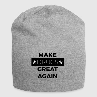 MAAK DRUGS GREAT AGAIN zwart - Jersey-Beanie