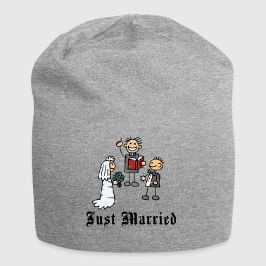 Funny Just Married - Jersey Beanie
