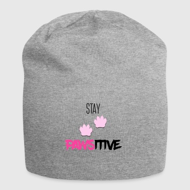 Stay pawsitive - Jersey Beanie
