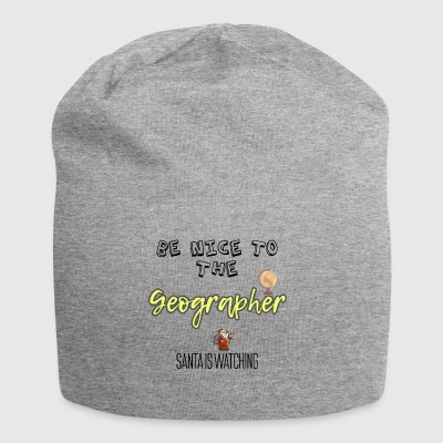 Be nice to the Geographer Santa is watching - Jersey Beanie