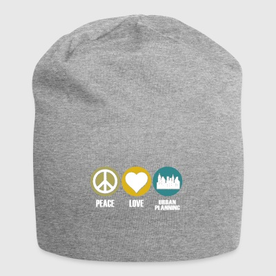 peace love urban planning - Jersey-Beanie