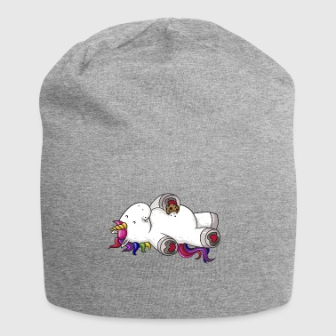 Munching comic Unicorn rainbow - Jersey Beanie