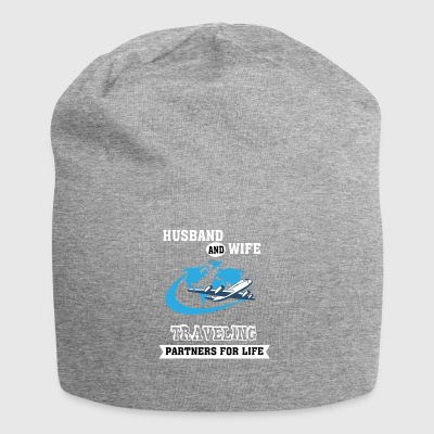Husband And Wife, Partners for Life - Traveling - - Jersey Beanie