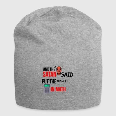 Satan worked with mathematics - Jersey Beanie
