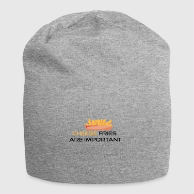 Cheese fries is important - Jersey Beanie