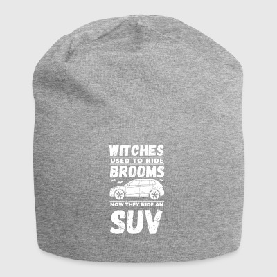 Halloween. Witches. Witches' broom. SUV. SUVs. - Jersey Beanie