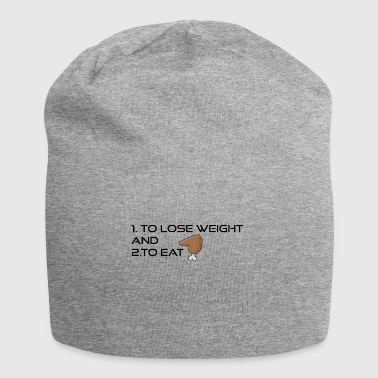 To loose weight or to eat - Jersey Beanie