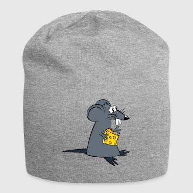 Mouse with cheese - Jersey Beanie