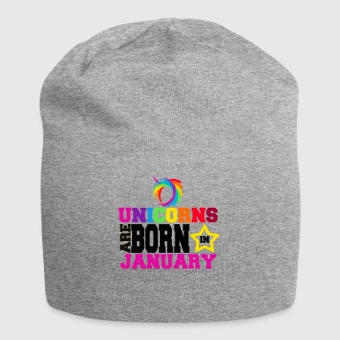Unicorns are born in January - Jersey Beanie