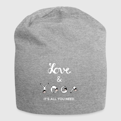 Yoga Love Hobby Mindful Gift - Jersey Beanie