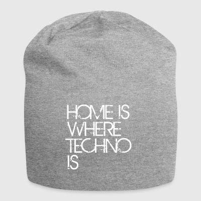home is where techno is music Club House DJ dancing - Jersey Beanie