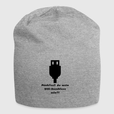 Witziges USB Single Design - Jersey-Beanie