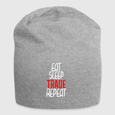 Eat sleep trade Repeat gift idea - Jersey Beanie