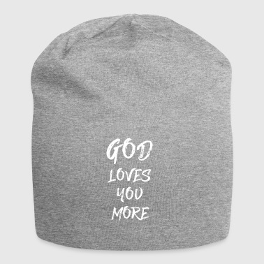 GOD LOVES YOU MORE - Jersey Beanie