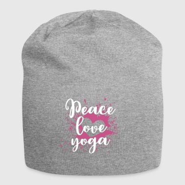 Friede Liebe Yoga - Peace Love Yoga Shirt - Jersey-Beanie