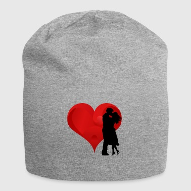 Couple in front of a heart - Jersey Beanie