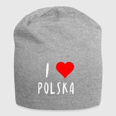 Amo Polska Polonia Polish idea regalo - Beanie in jersey