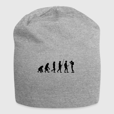 Evolution to the photographer T-shirt gift - Jersey Beanie