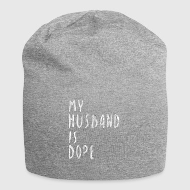 My husband is dope husband love gift idea - Jersey Beanie