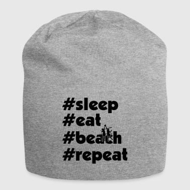 slaap eet strand repeat maenner xy - Jersey-Beanie